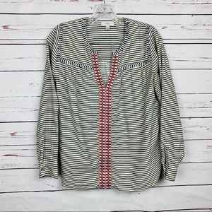 JCrew embroidered peasant top